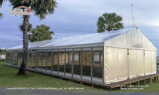 large outdoor wedding tent